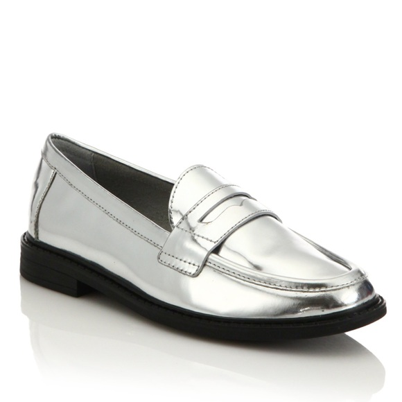 7a517aef714 Cole Haan Shoes - Cole Haan Silver Pinch Campus Penny Loafers